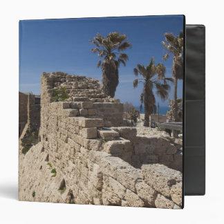 Caesarea ruins of port built by Herod the Great 3 Vinyl Binder