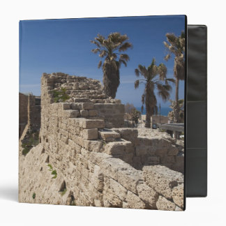 Caesarea ruins of port built by Herod the Great 3 3 Ring Binders