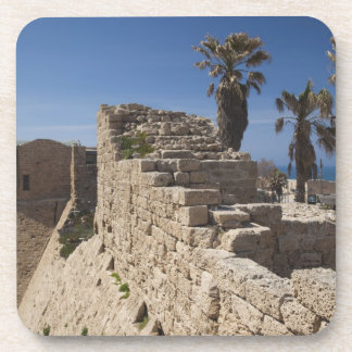 Caesarea ruins of port built by Herod the Great 3 Beverage Coaster