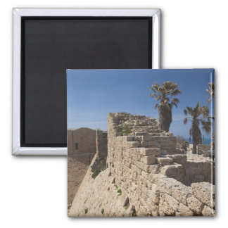 Caesarea ruins of port built by Herod the Great 3 2 Inch Square Magnet