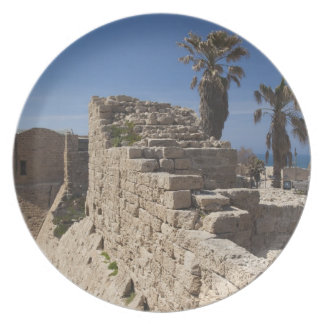 Caesarea ruins of port built by Herod the Great 3 Party Plates