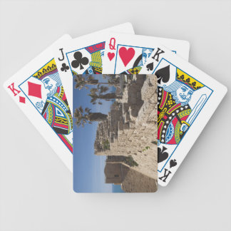 Caesarea ruins of port built by Herod the Great 3 Bicycle Playing Cards