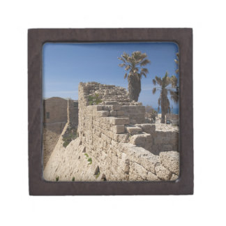 Caesarea ruins of port built by Herod the Great 3 Premium Jewelry Boxes