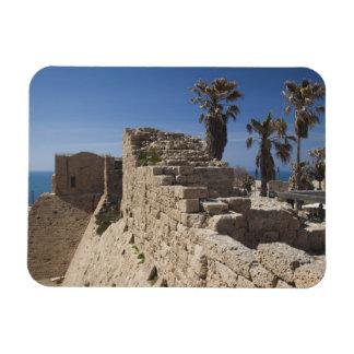 Caesarea ruins of port built by Herod the Great 3 Rectangular Photo Magnet