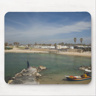 Caesarea ruins of port built by Herod the Great Mouse Pad