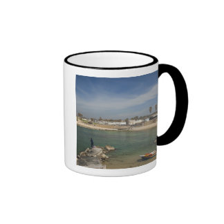 Caesarea ruins of port built by Herod the Great Ringer Coffee Mug
