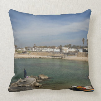 Caesarea ruins of port built by Herod the Great Pillows