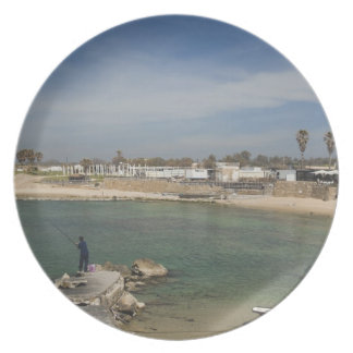 Caesarea ruins of port built by Herod the Great Dinner Plate