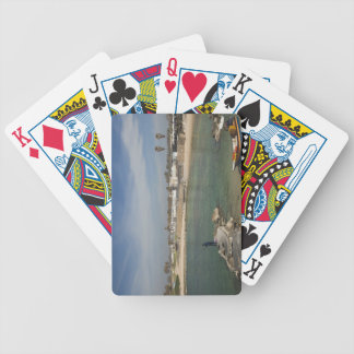Caesarea ruins of port built by Herod the Great Bicycle Playing Cards