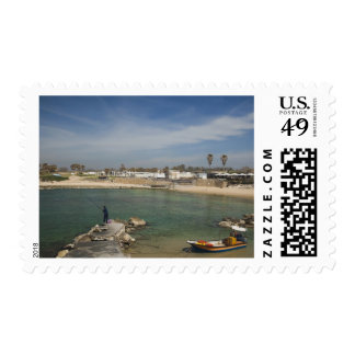 Caesarea ruins of port built by Herod the Great Postage