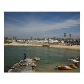 Caesarea ruins of port built by Herod the Great Poster