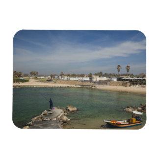 Caesarea ruins of port built by Herod the Great Rectangular Photo Magnet