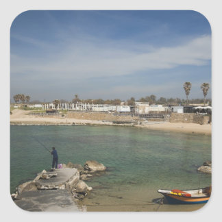 Caesarea ruins of port built by Herod the Great Square Sticker