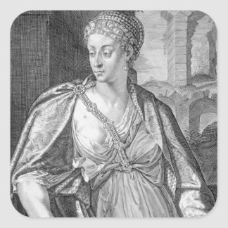 Caesonia wife of Caligula (engraving) Square Sticker