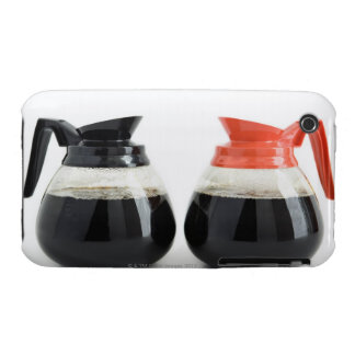 Caf. and Decaf. Coffee Pots on White. iPhone 3 Case-Mate Case