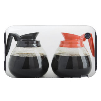 Caf. and Decaf. Coffee Pots on White. iPhone 3 Tough Cover