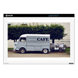 Caf� truck and ice-cream carts decals for laptops
