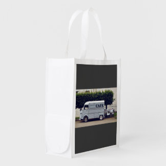 Caf� truck and ice-cream carts grocery bag