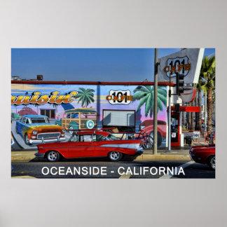 Cafe 101 in Oceanside, California Poster