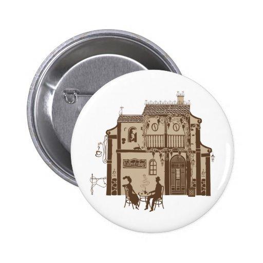 Cafe 2 Inch Round Button