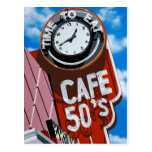 Cafe 50's Retro Diner Painting Postcard