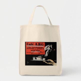 Cafe ABG Vintage Coffee Shop Ad Art Tote Bags