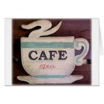 Café abierto felicitación