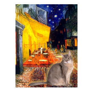 Cafe - Abyssinian (blue 21) Postcard