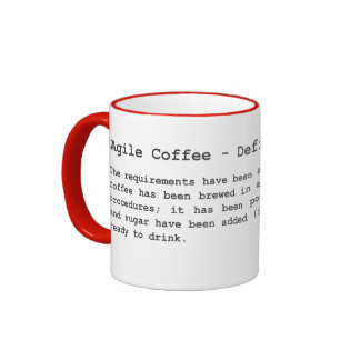 Café ágil - definición de hecho taza de dos colores