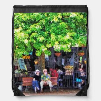 Café al aire libre de Asheville NC Mochilas