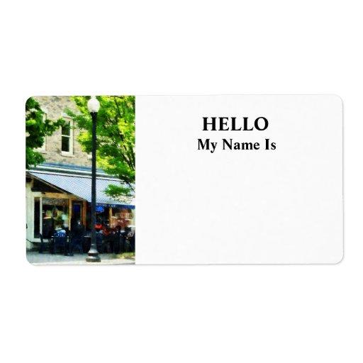 Café Albany NY Etiquetas De Envío