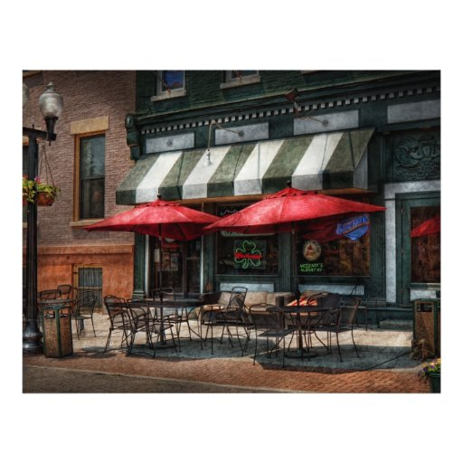 """Café - Albany, NY - Pub de Mc Geary Folleto 8.5"""" X 11"""""""