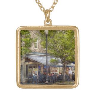 Cafe - Albany, NY - Victory Cafe Square Pendant Necklace