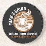 Café amargo adicional para los empleados contrarie posavasos cerveza
