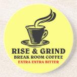 Café amargo adicional para los empleados contrarie posavasos manualidades