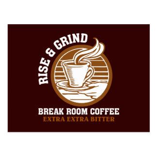 Café amargo adicional para los empleados tarjeta postal