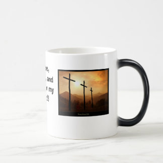 ¡Café, anillos de espuma, y Cristo! Taza De Café