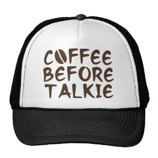 Café antes de la película hablada gorros