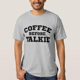 Café antes de la película hablada remera