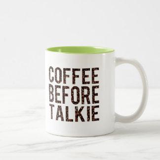 Café antes de la película hablada taza de dos tonos