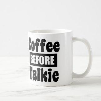 Café antes de la película hablada tazas de café