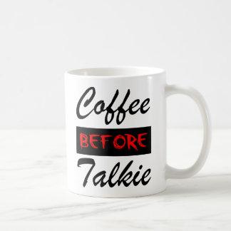 Café antes de la taza divertida de la película