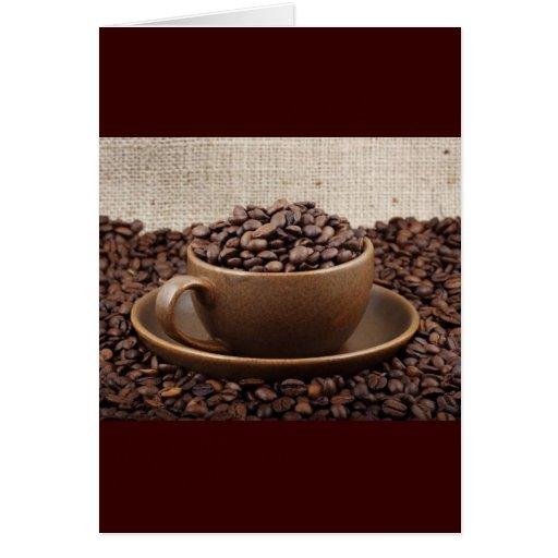 Café asombroso tarjeta de felicitación