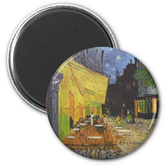 Cafe at Night by Vincent Van Gogh 2 Inch Round Magnet