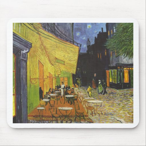 Cafe at Night by Vincent Van Gogh Mouse Pads
