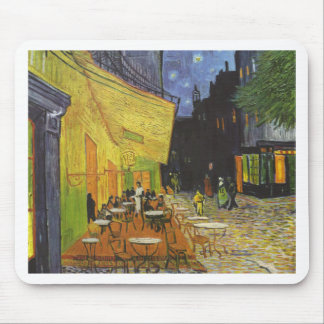 Cafe at Night by Vincent Van Gogh Mouse Pad