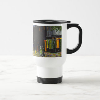 Cafe at Night by Vincent Van Gogh 15 Oz Stainless Steel Travel Mug