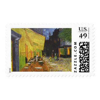 Cafe at Night by Vincent Van Gogh Postage