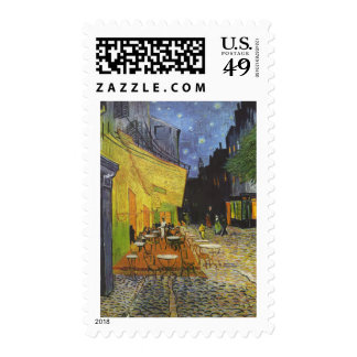 Cafe at Night by Vincent Van Gogh Stamps