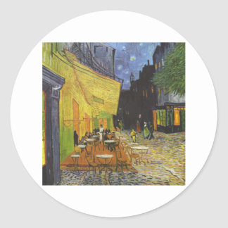 Cafe at Night by Vincent Van Gogh Classic Round Sticker